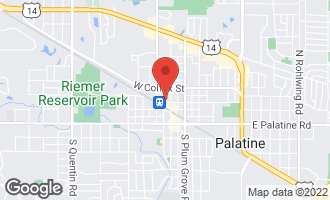 Map of 134 West Wood Street #1 PALATINE, IL 60067