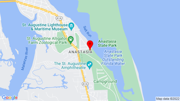 Google Map of 1340 SR-A1A S, St Augustine, FL 32080