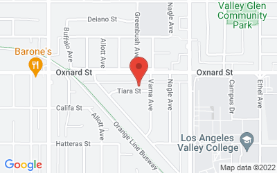 Map of 13421 Tiara Street, Van Nuys, CA, USA