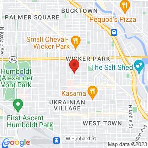 Google Map of 1345 N Leavitt st Chicago, IL 60622