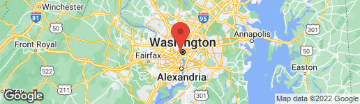 Map of 1345 28TH STREET NW WASHINGTON, DC 20007