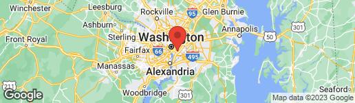 Map of 1345 K SE #204 WASHINGTON, DC 20003