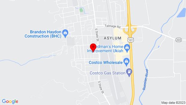 Google Map of 1346 S. State St., Ukiah, CA 95482