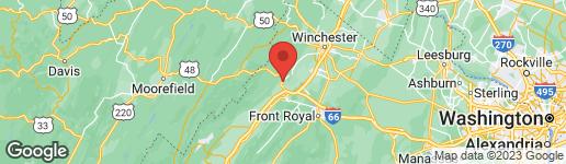 Map of 1346 OLD GRADE ROAD STRASBURG, VA 22657