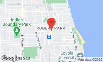 Map of 1348.5 West Estes Avenue 3S CHICAGO, IL 60626