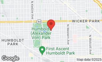 Map of 1349 North California Avenue CHICAGO, IL 60622