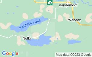 Map of Bednesti Lake Resort (Saik'uz First Nation)