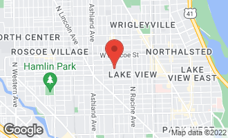 Map of 1350 West Melrose Street CHICAGO, IL 60657