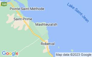 Map of Camping De La Pointe