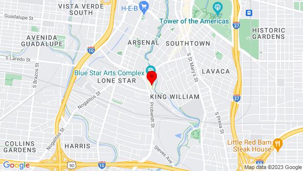 Google Map of 136 Blue Star, San Antonio, TX 78204 , San Antonio, Texas 78204