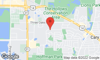 Map of 1361 New Haven Drive #1361 CARY, IL 60013