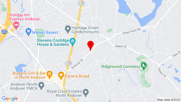 Google Map of 137 Andover Street, North Andover, MA 01845