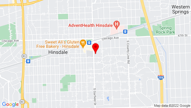 Google Map of 137 South Garfield Avenue, Hinsdale, IL 60521