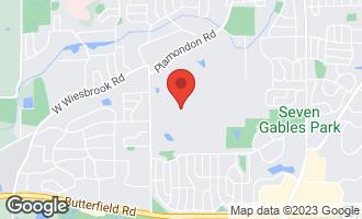Map of 137 Stuarton Drive WHEATON, IL 60189