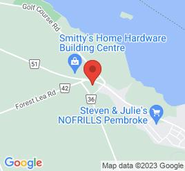 Google Map of 1370+Pembroke+St.+W%2CPembroke%2COntario+K8A+7M3