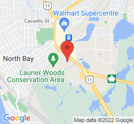 Google Map of 1370+Seymour+St%2CNorth+Bay%2COntario+P1B+8G4