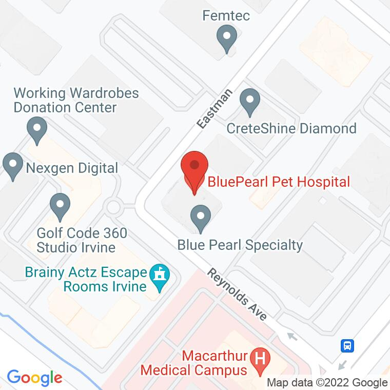 Google Map of 1371 Reynolds Ave, Irvine, CA, 92614