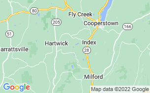 Map of Cooperstown Beaver Valley Cabins & Campsites