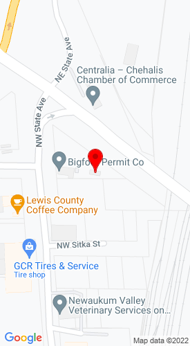 Google Map of Cascade Trader Inc 1380 NW State Avenue, Chehalis, WA, 98532