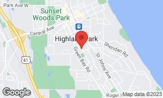 Map of 1380 Glencoe Avenue Highland Park, IL 60035
