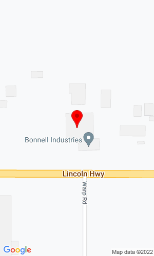 Google Map of Bonnell Industries, Inc. 1385 Franklin Grove Road, Dixon, IL, 61021