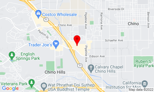 Google Map of 13851 Roswell Ave. Suite E, Chino CA 91710