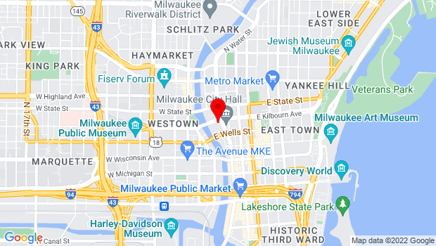 Google Map of 139 E Kilbourn Ave, Milwaukee, WI 53202