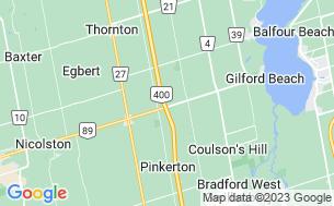 Map of Toronto North/Cookstown KOA