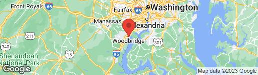 Map of 13907 GULLANE DRIVE #106 WOODBRIDGE, VA 22191