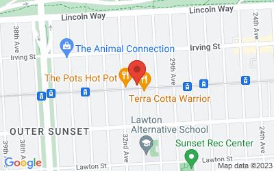 Map of DeHart Studios - San Francisco (Sorry, not wheelchair accessible)