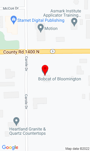 Google Map of Bobcat of Bloomington 13955 Carole Drive, Bloomington, IL, 61705