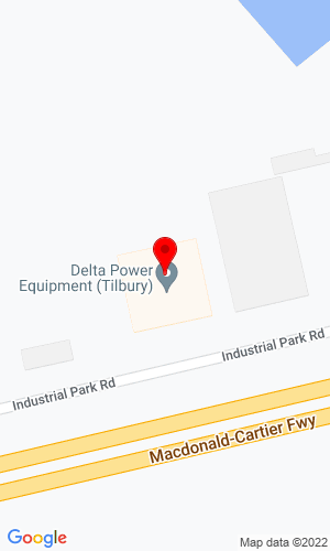 Google Map of Delta Power Equipment 14 Industrial Park Rd, Tibury, ON, N0P 2L0