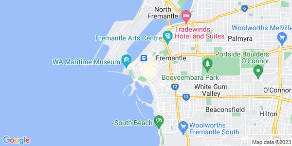 Google Map of 14+Collie+Street%2C+Freemantle%2CWestern+Australia