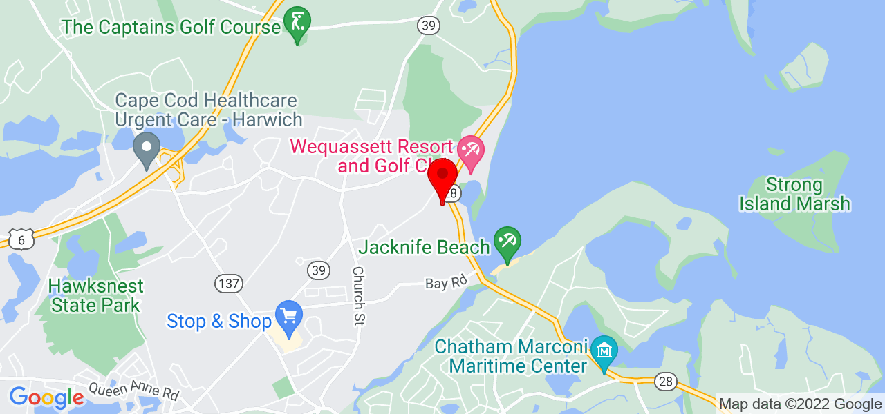 Google Map of 14 Mariner Drive Harwich MA