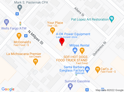 Google Map of 14 North Milpas