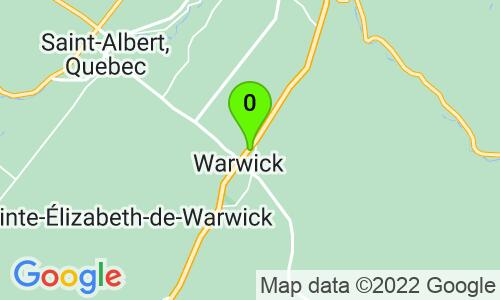Carte du 14, rue Beauchesne, Warwick, J0A 1M0, Québec