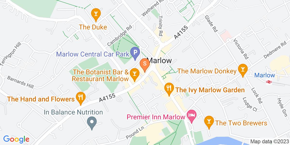 Google Map of 14-22 West Street Marlow SL7 2NB