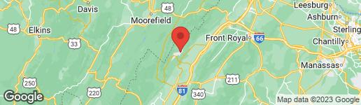 Map of 14 OAK COURT MOUNT JACKSON, VA 22842