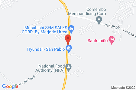 Map of Pizza Hut SM San Pablo