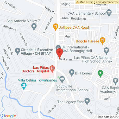 Diones Watch Repair on Map (Balikatan St, CAA, Las PInas City, NCR, Philippines) Map