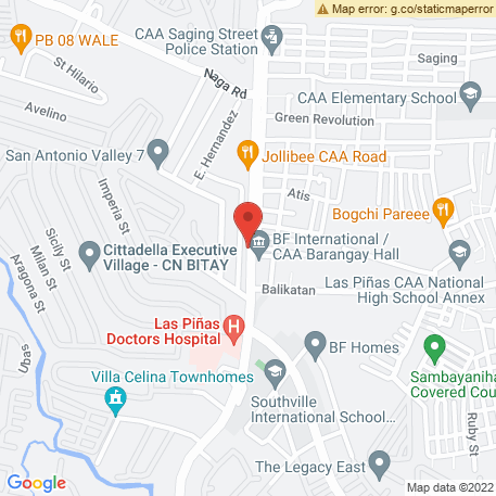 Focus Fitness Gym on Map (4/F Lorna Bldg., J.Aguilar Ave., (CAA Rd.) Brgy. BF International, Las Piñas, Philippines) Map