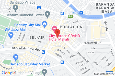 Map of BEST WESTERN Oxford Suites Makati