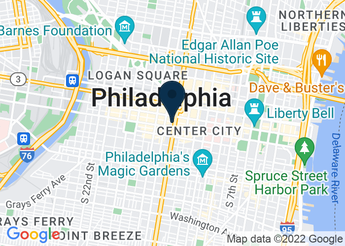 Map of 140 South Broad Street, Philadelphia, PA, United States