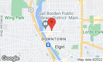Map of 140 Kimball Street ELGIN, IL 60120