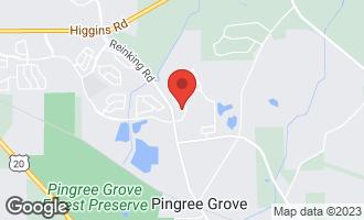 Map of 140 Whitecaps Court PINGREE GROVE, IL 60140