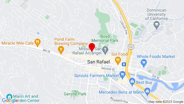 Google Map of 1400 5th Ave., San Rafael, CA 94901