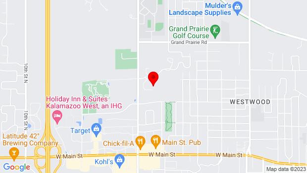 Google Map of 1400 North Drake Rd, Kalamazoo, MI 49006