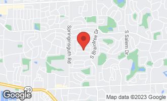 Map of 1400 Hampton Lane Schaumburg, IL 60193