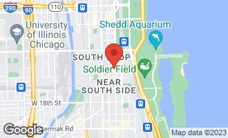 Map of 1400 South Michigan Avenue #1708 CHICAGO, IL 60605