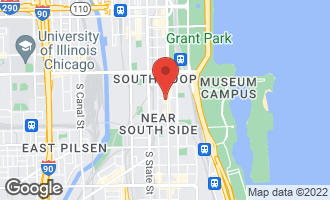 Map of 1400 South Michigan Avenue #1901 CHICAGO, IL 60605
